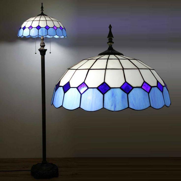 153cm/60″H Blue Mediterranean Modern Tiffany Floor Lamp | GbTiffany - Buy Tiffany Lamps From China