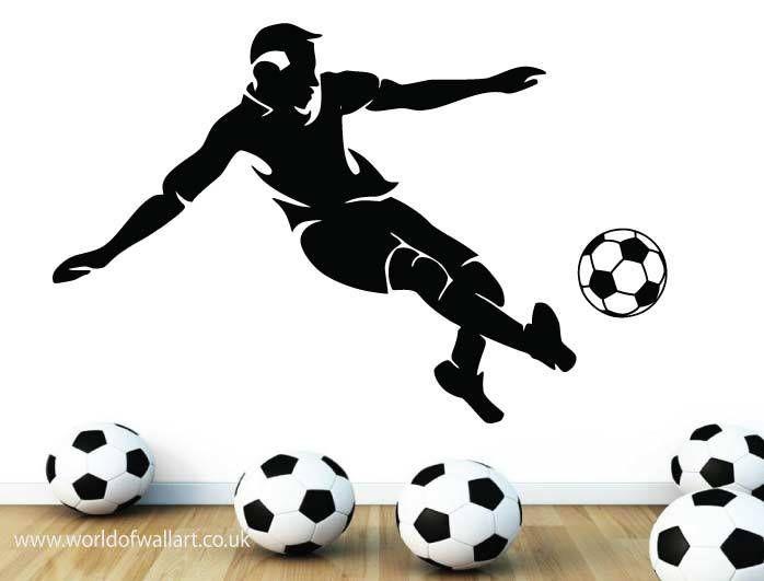 World Of Wall Art - Football Player Silhouette Wall sticker, £9.99 (http://www.worldofwallart.co.uk/football-player-silhouette-wall-sticker/)
