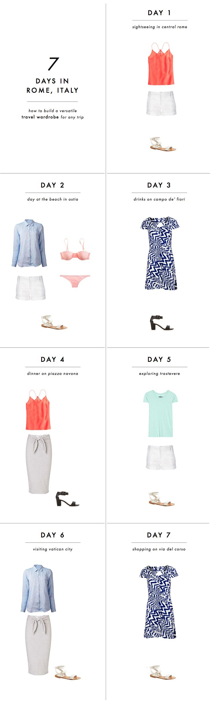 How to build a versatile travel wardrobe for any trip: A 3-step formula! #travel #Italy #fashion