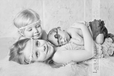 three siblings photo