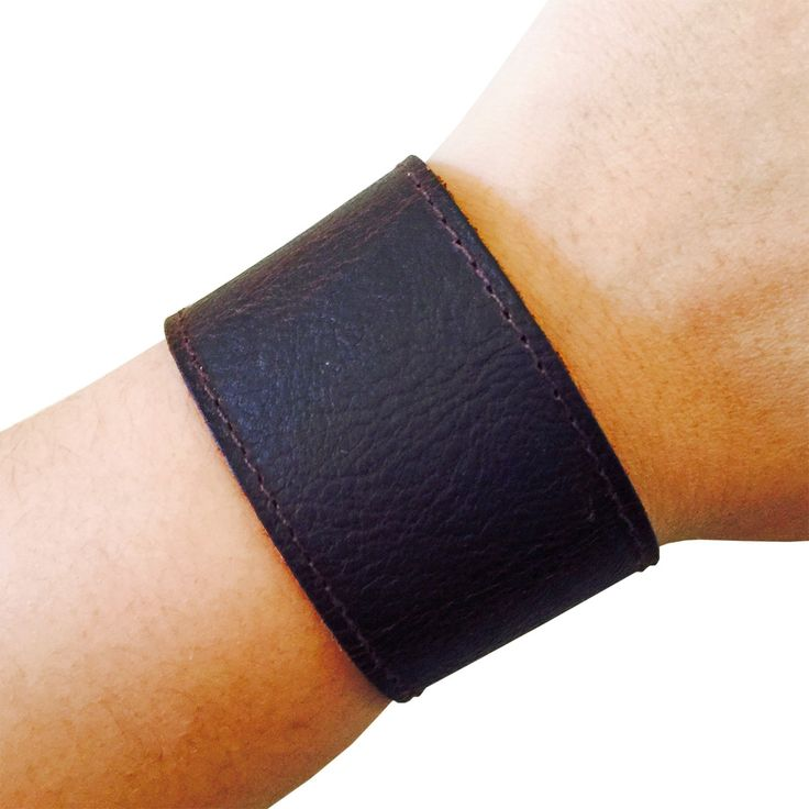 Activity Tracker Bracelet for Fitbit Flex, Fitbit Zip, Misfit Shine, Misfit Flash or Jawbone Move Fitness Trackers - The DAWSON Brown Vegan Leather Unisex Fitbit Bracelet by Funktional Wearables