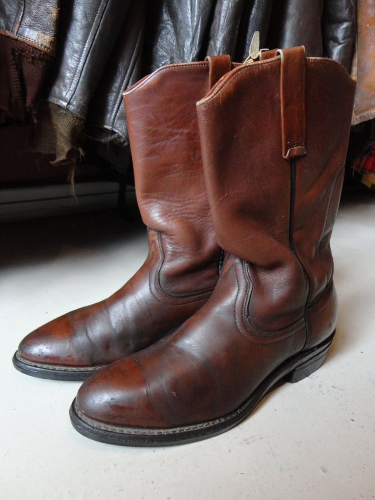 Redwing Pecos Men's Brown Leather Western Style Boots Shoes Size UK 7