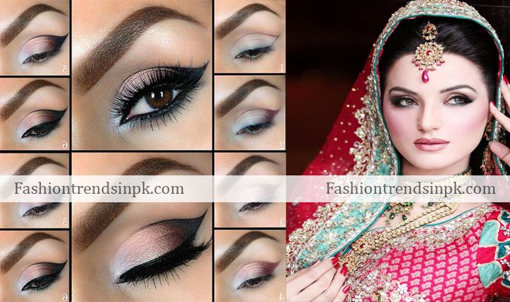 Latest bridal smokey eye makeup trends with pics. Bridal ...