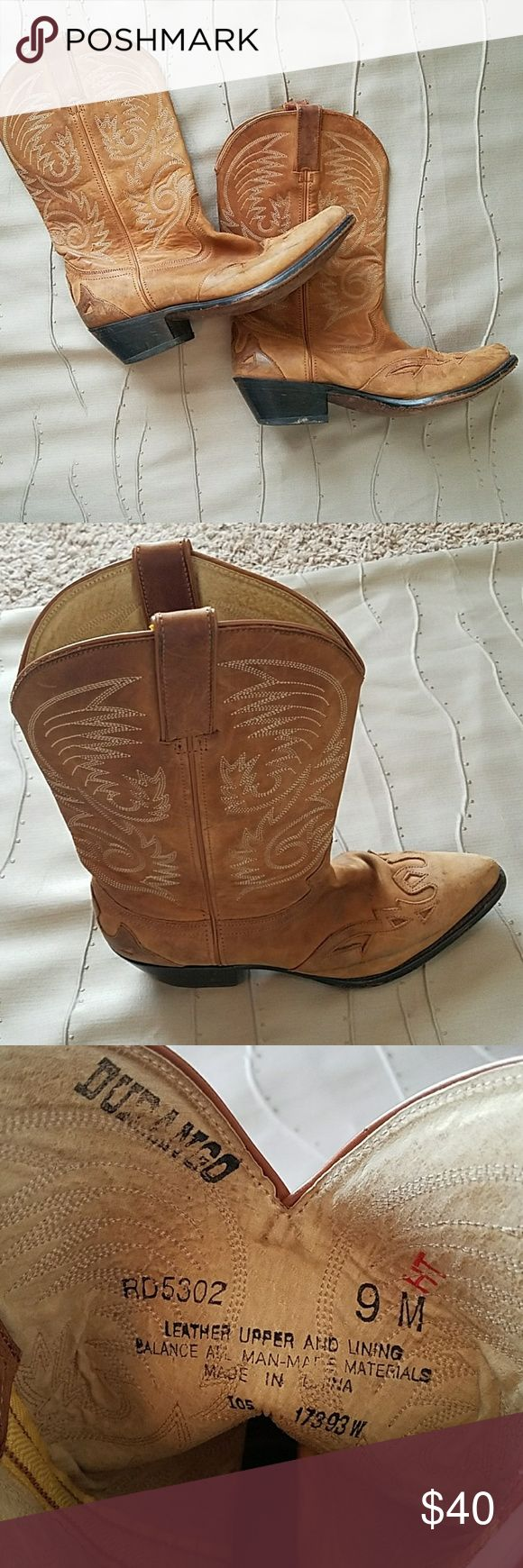 Women's Cowboy Boots Women's Durango Cowboy Boots Size 9. Really cute and comfortable worn cowboy boots. Durango Shoes Heeled Boots