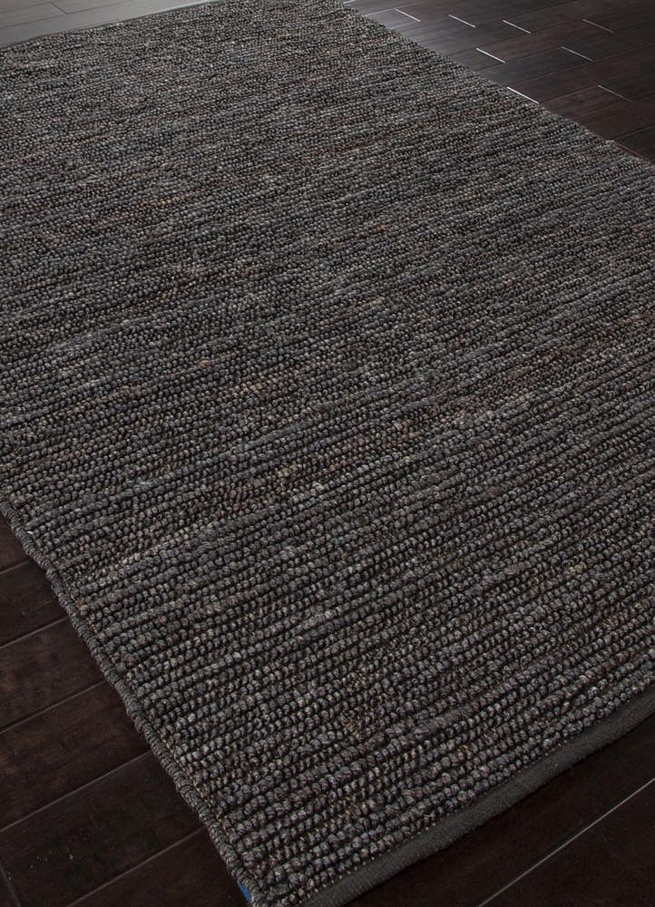 Jaipur Rugs Natural Solid Pattern Hemp and Jute Gray and Black Woven Rug - CL11 - eFurniture Mart