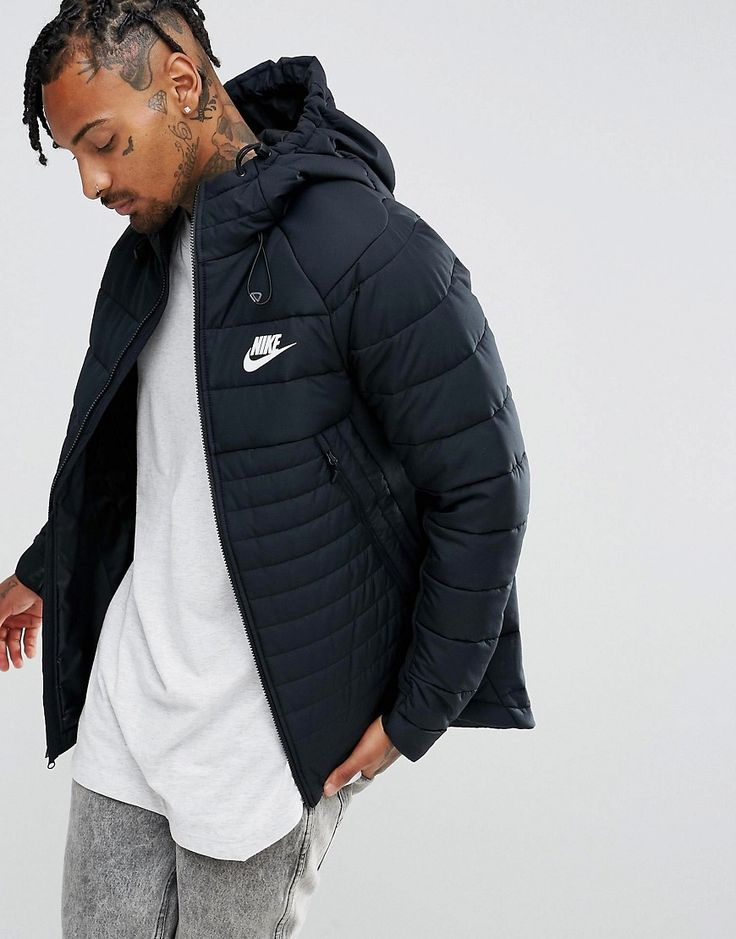 Get this Nike's quilted jacket now! Click for more details. Worldwide shipping. Nike AV15 Padded Jacket With Hood In Black 861782-010 - Black: Jacket by Nike, Supplier code: 861782-010, Smooth woven fabric, Padded lining for extra warmth, Adjustable hood, Zip fastening, Nike Swoosh logo, Functional pockets, Regular fit - true to size, Machine wash, 100% Polyester, Our model wears a size Medium and is 185.5cm/6'1 tall. Back in 1971 Blue Ribbons Sports introduced the concept of the Greek…
