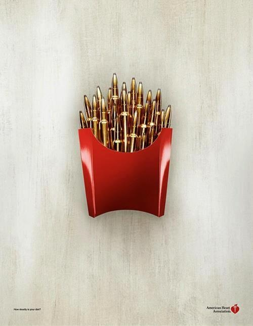Ad for the American Heart Association.