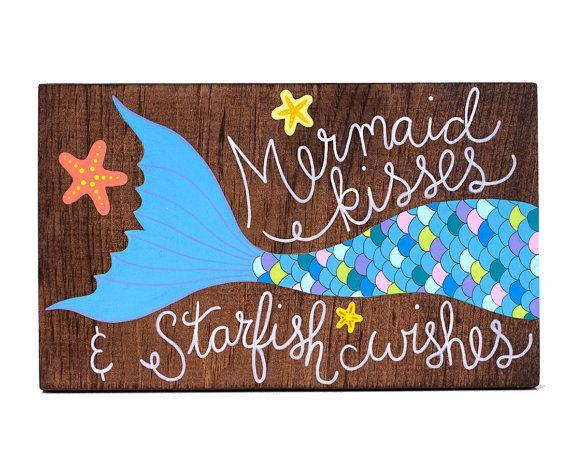 Señal de sirena arte sirena sirena de madera por ArtBySharell