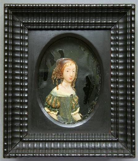 Wax miniature of Archduchess Eleanor Maria Josefa of Austria by Anonymous, before 1671, Staatliche Kunstsammlungen Dresden - Rüstkammer