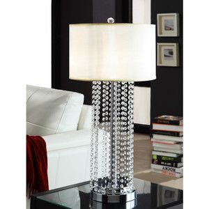 Tribecca Home Saxton 1-light Crystal Chrome Table L&  sc 1 st  Pinterest & 100 best Lighting images on Pinterest   Table lamp Light table ... azcodes.com