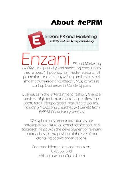 #ePRM Consultancy services brief