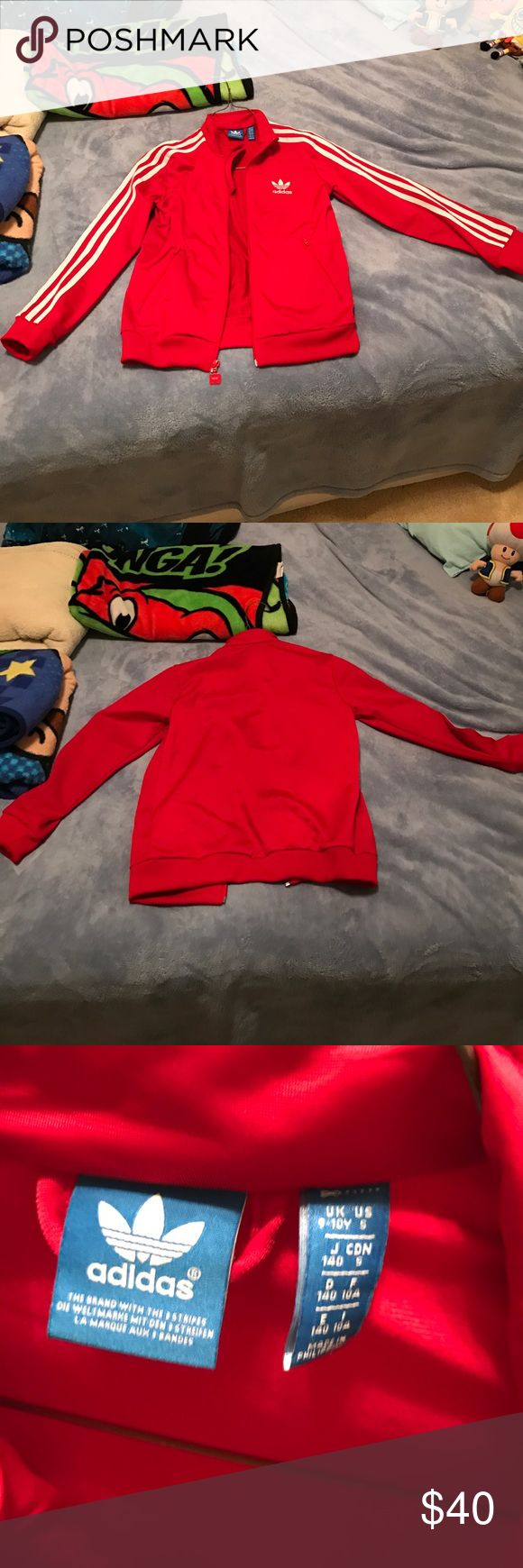 2 Boy's Jackets - Adidas and Osh Kosh Boy's red/white Adidas jacket that my son cannot fit into anymore. I bought this when he was about 7? So this is a small and I think this fits a 5-6 (my son is small for his age). And a blue zip up jacket from Osh Gosh. Both are in excellent condition. It was worn maybe twice (mainly for a Run DMC birthday party). In excellent used condition, 9/10 on condition. And the Osh Gosh in excellent used condition, 8/10 on condition. Adidas Shirts & Tops…