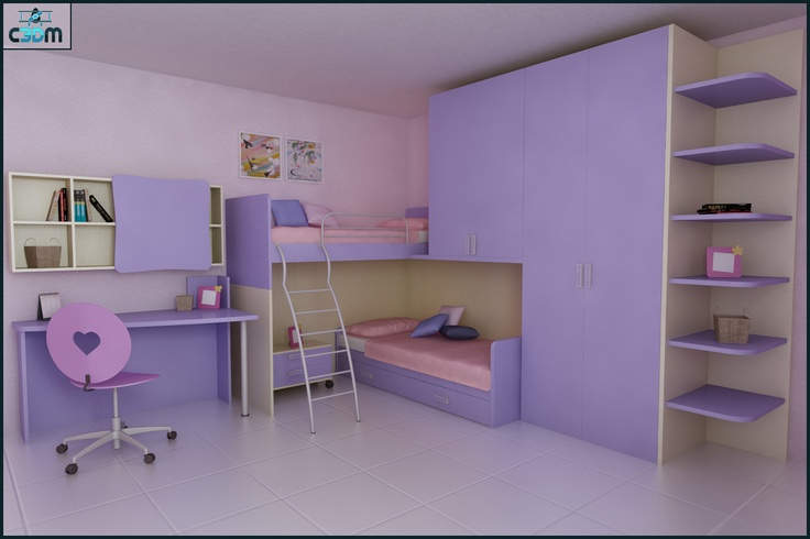 3D Graphic Design  Children Kids Bedroom