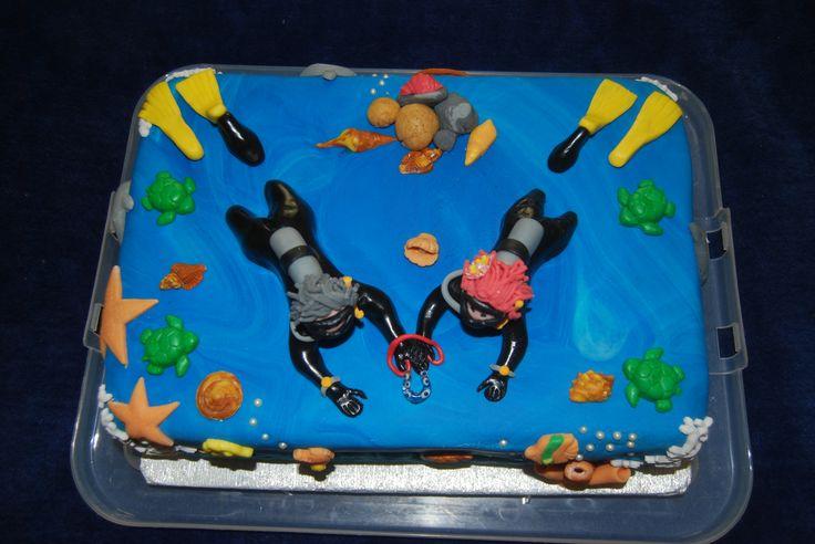 Scuba Diving Wedding Cake (Above)