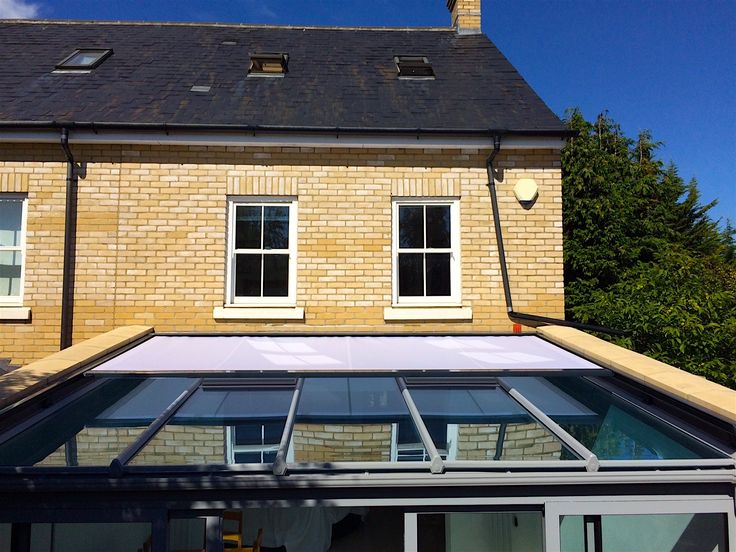 External Roof Blind Installation Located In Cambridge. This Client Chose  Our Special Offer Anthracite Grey