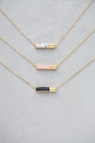 Gold & Marble Cartridge Necklace