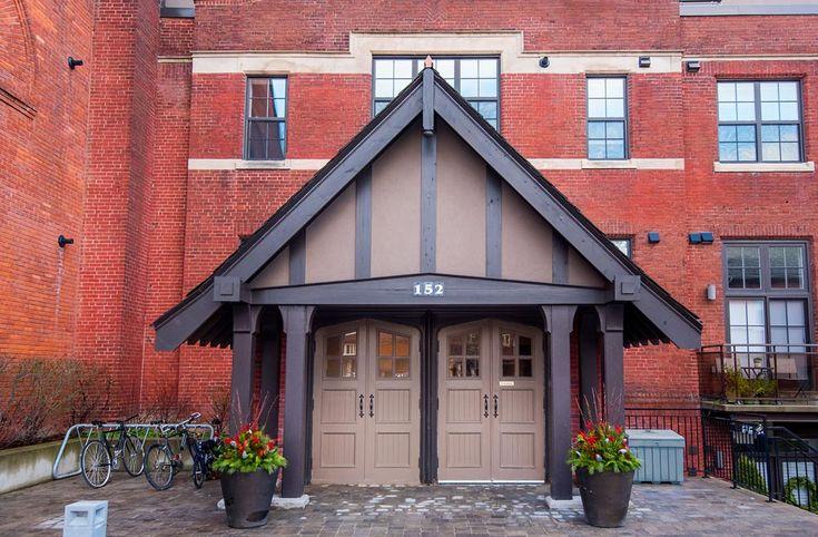 Victoria Lofts - #308 | TorontoLOFTS.ca | Fab rare historic 1 bedroom + den church loft with private balcony & 1 underground parking in boutique loft building! Prime High Park/Bloor West village locale close to cafes, restaurants, shops & subway. | Book a visit here: http://www.torontolofts.ca/victoria-lofts-lofts-for-rent/152-annette-st-308 | Contact: info@torontolofts.ca