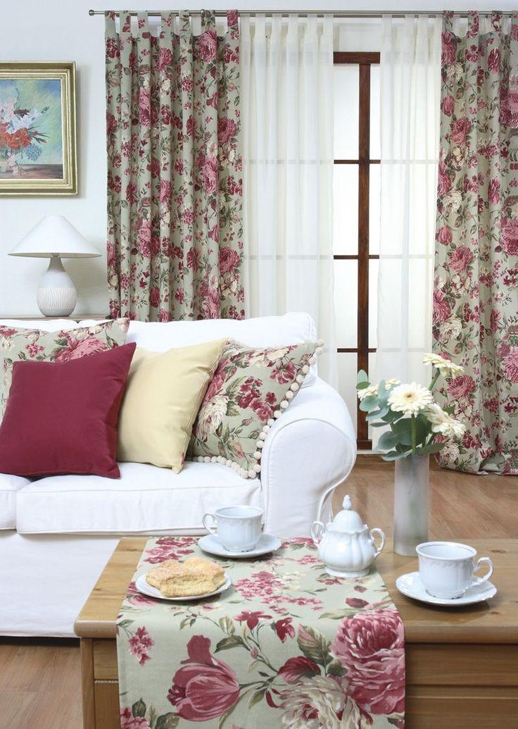 #kwiaty #flowers #home #inspiration #dom #dekoracje #poszewki #tkaniny  firany, rolety, zasłony, rolety rzymskie, tekstylia kuchenne, tkaniny na wymiar, szwalnia - Dekoria.pl