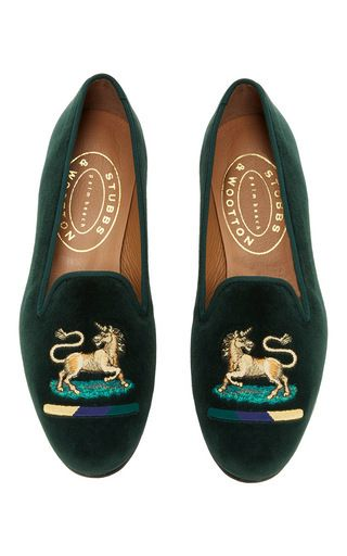 Camo Vert Pantoufles En Coton Needlepoint De Stubbs & Wootton NnDdSA5gO