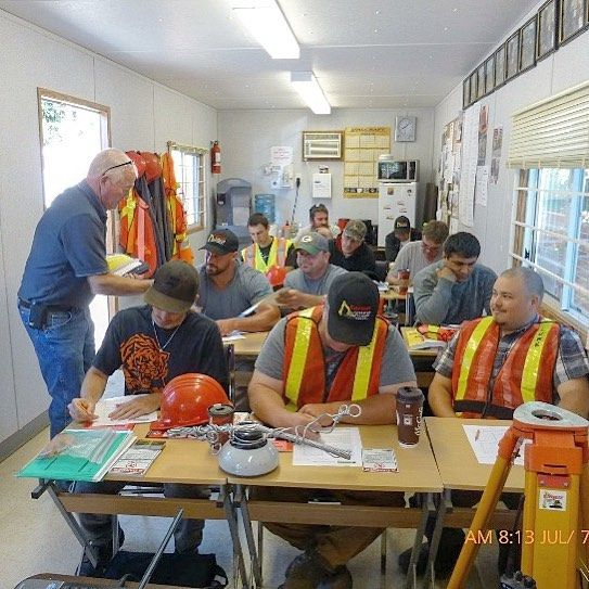 Rayway students enjoying a BC hydro electric safety seminar  for info on the courses we offer go to www.rayway.ca  #student #hydro #electric #electricity #safety #group #seminar #work #operating #career #rayway #operator #training #school #traininggrounds #heo #heavyequipment #heavyequipmentoperator #construction #menwhooperate #womenwhooperate #aldergrove #britishcolumbia #bc