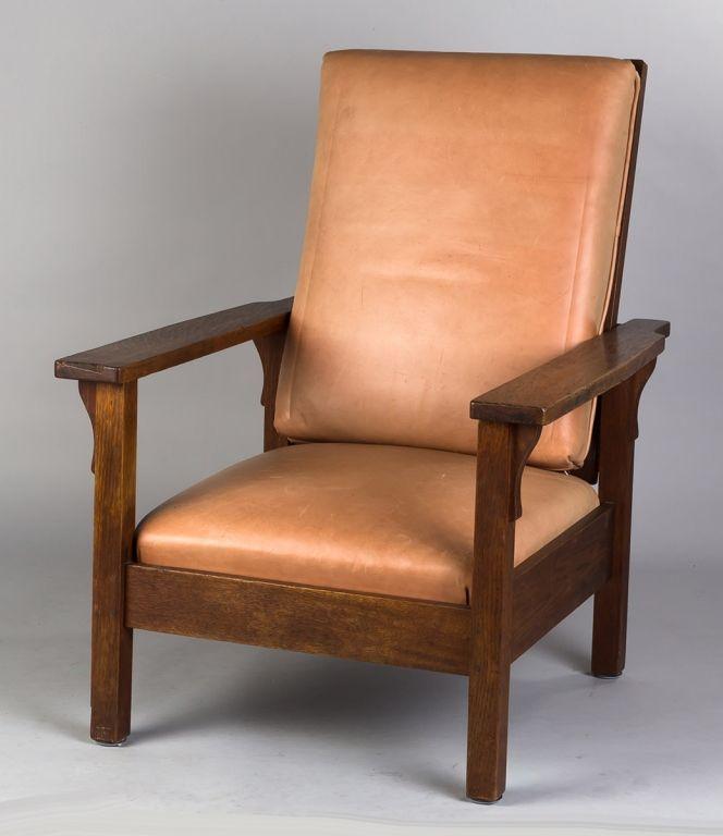 Signed Gustav Stickley Morris Chair