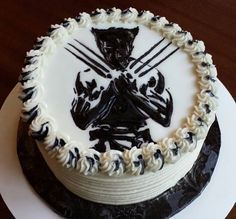 wolverine cake idea for a certain little boy's 7th birthday