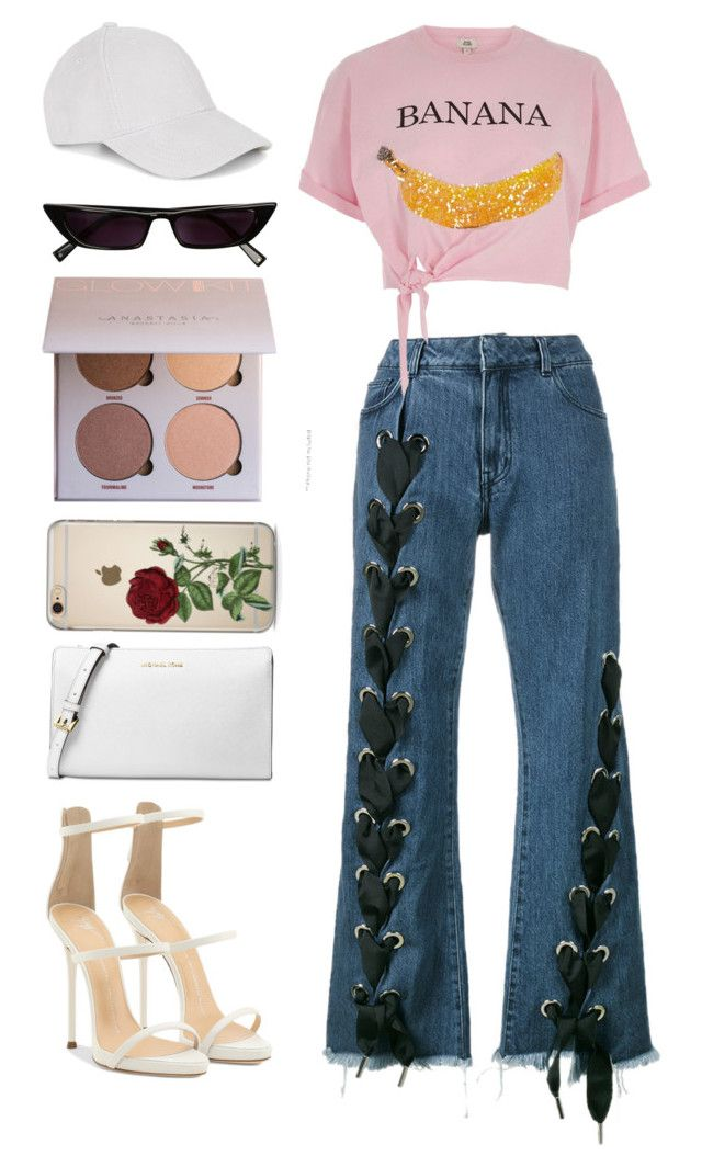 """""""B.A.N.A.N.A."""" by pstm ❤ liked on Polyvore featuring Marques'Almeida, River Island, Giuseppe Zanotti, Michael Kors and Le Amonie"""