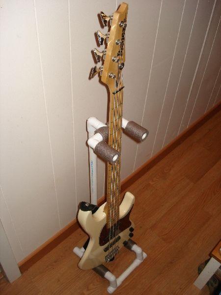DIY PVC guitar stand