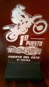 Trofeo Medalla Placa Acrilico Futbol Bici Tenis X 15 Cm - $ 98,00