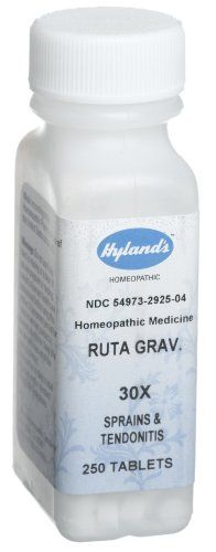 Hyland's Ruta Graveolens 30X Tablets, Natural Homeopathic Sprains & Tendonitis Relief, 250 Count