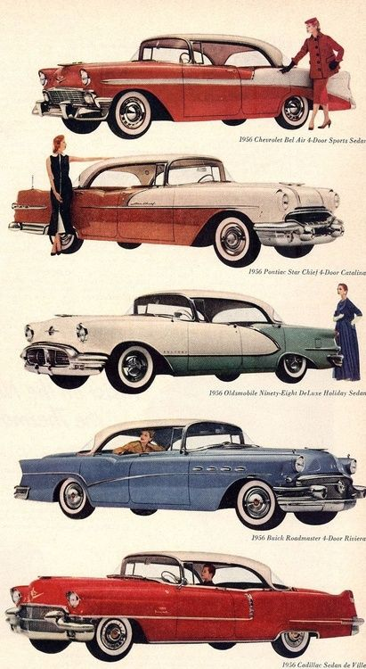 General motors 1956 models 20thcmod classic cars of for General motors cars list