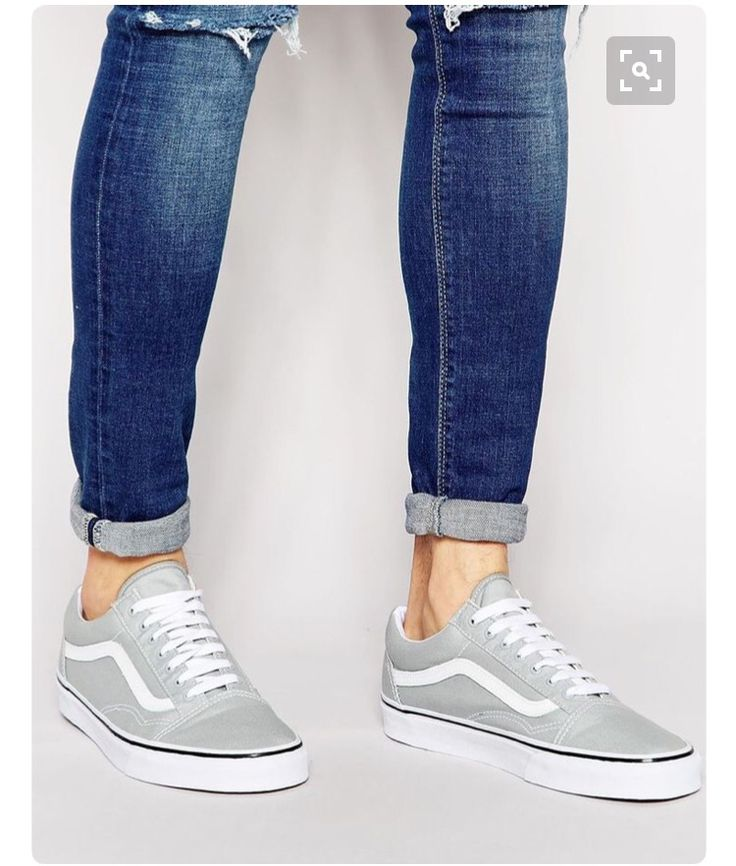 excellent grey vans shoes