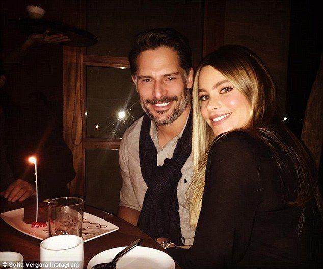 Birthday treats! Sofia Vergara posted a gorgeous shot of her celebrating her husband Joe Manganiello's 39th birthday on Monday - she captioned it simply 'Bday!!!!!'