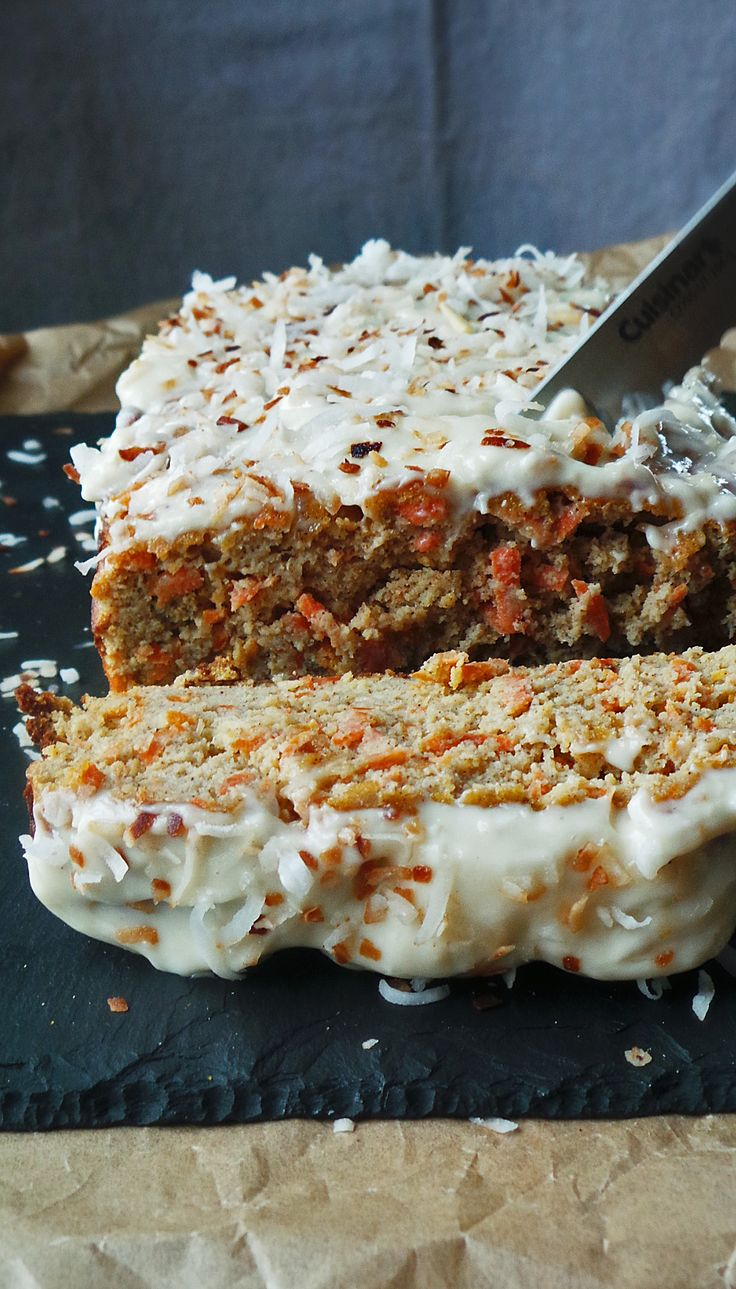 Carrot Coconut Loaf Cake (Gluten-Free)