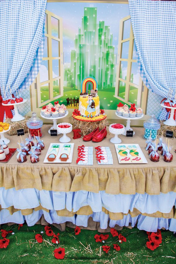 Incredibly Magical Wizard of Oz Birthday Party: The Sweets Table