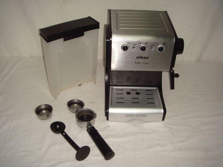 Cafetera Espresso manual UFESA duetto creme-doble sistema-buen estado!!