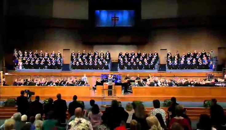 Arranger and Conductor  David Clysdale visiting FBC Jacksonville, Fl Choir singing Holy Is He