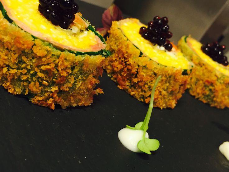 Maki fritto alla parmigiana è il piatto dello chef Luca Gubelli per Risotto a Colori di Gourmet Social Club