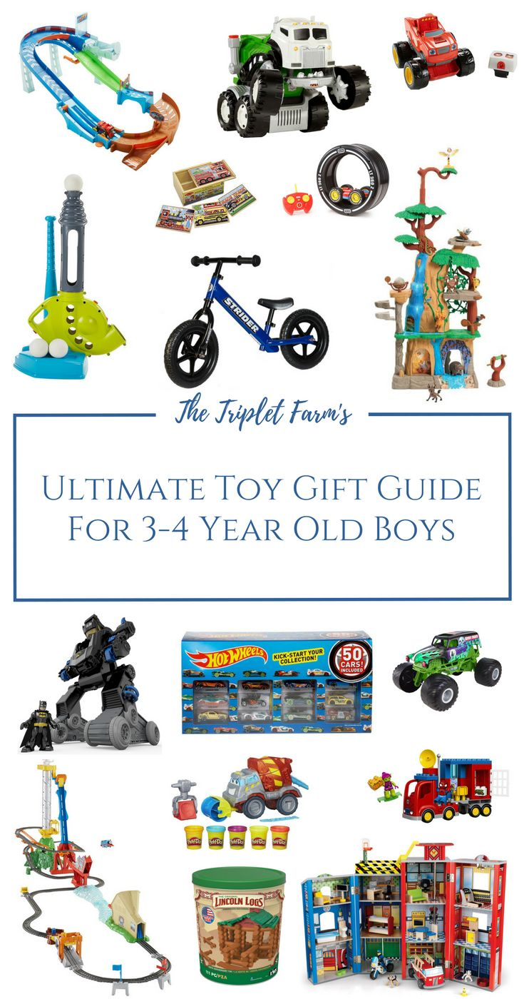Toy Gift Guide For 3 4 Year Old Boys I Am Confident My Jase Would Love Anything On This List Of Course There Are About A