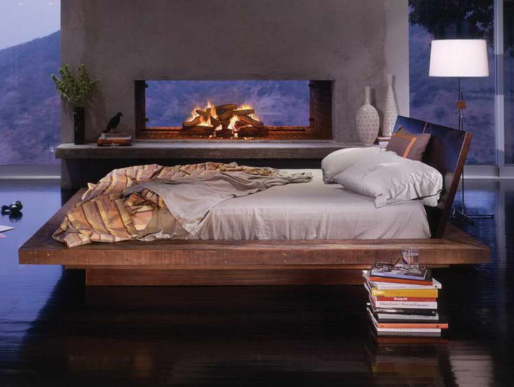 floating platform beds with furnace