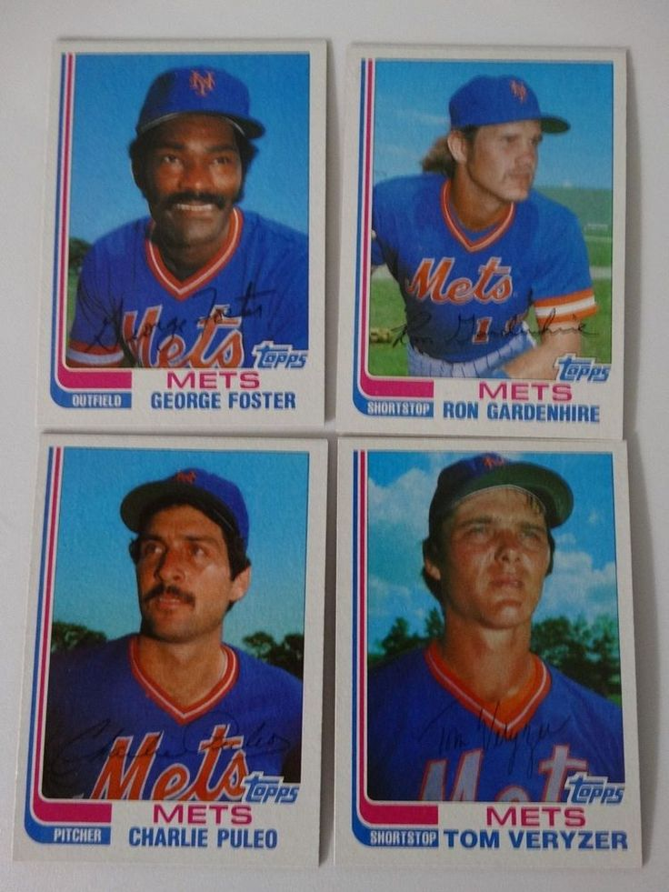 1982 Topps Traded New York Mets Team Set of 4 Baseball Cards  #NewYorkMets