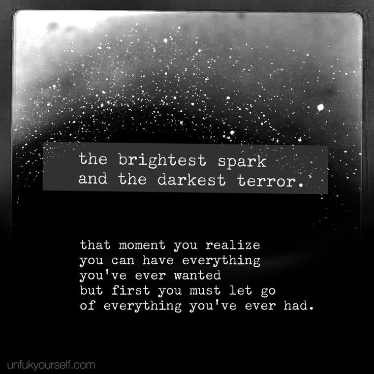 the brightest spark and the darkest terror.