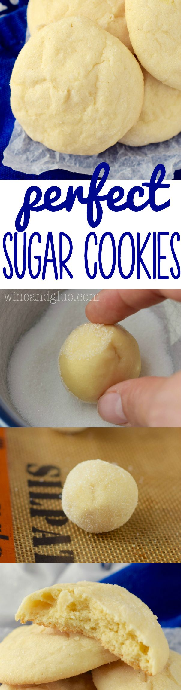 These are the perfect sugar cookies! Buttery, delicious, and addictive!: