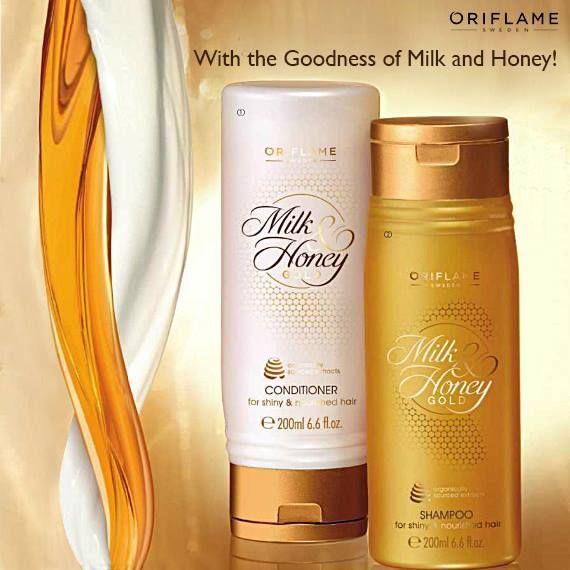 Oriflame Milk and Honey Gold Shampoo Creamy Shampoo with organically sourced…