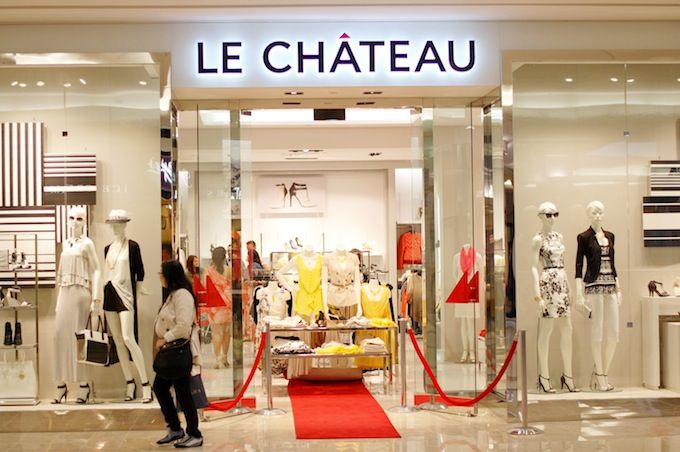 Inside the new Le Château concept store at Richmond Centre (www.covetandacquire.blogspot.ca)