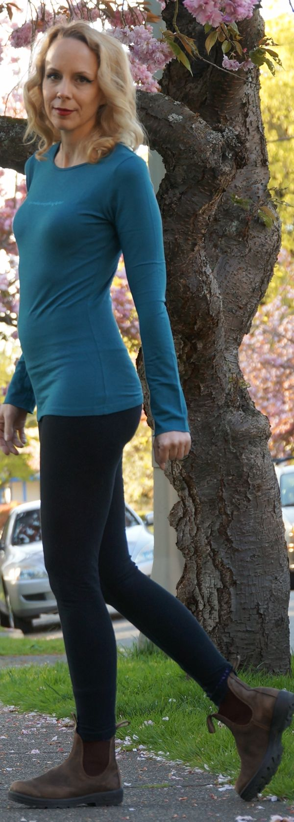 Teal Bamboo Long Sleeve Tee with Yoga Makes Everything Better from Squeezed Yoga Clothing  http://squeezed.ca/shop/deep-teal-bamboo-long-sleeve-tee-with-yoga-makes-everything-better