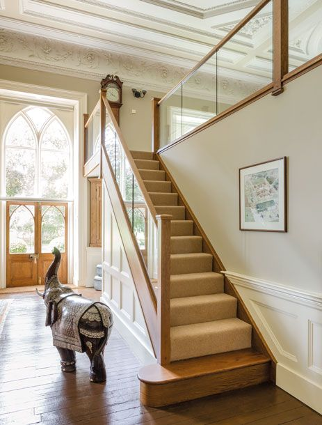 Dark Oak and Inline Glass Staircase – Neville Johnson