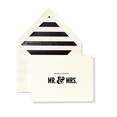 Bridal Note Card Corresponding Envelopes Set of 10 - Mr. & Mrs. Kate Spade NEW #GreetingCards