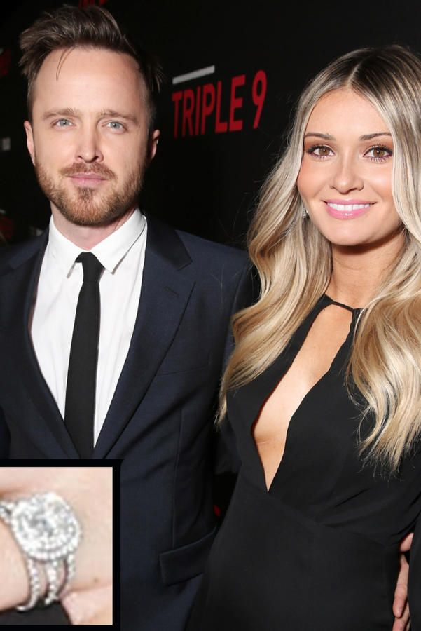 Lauren Parsekian and Aaron Paul - The Most Breathtaking Engagement Rings Ever - Southernliving. Actor Aaron Paul proposed to Lauren Parsekian on New Year's Eve in Paris with a beautiful cushion-cut diamond ring. The couple wed in May 2013.