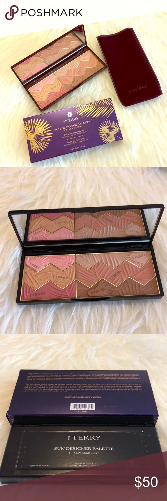 NEW! By Terry Savannah Love Sun Designer Palette Brand New, Authentic Unused, not swatched Limited Edition  See pics for screenshot of description of palette/shades  Definitely your 'grown up' palette, awesome reviews Blush/bronze/all over powders  Part of summer edition '17  Selling 40%off retail! This is a great buy by terry Makeup Blush